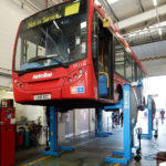 Bus lifted by SEFAC S1