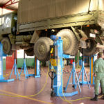 Military engine lifted by SEFAC mobile columns