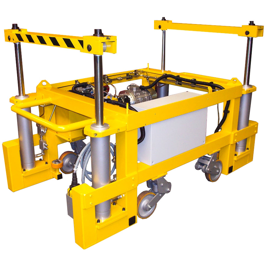 Pits' mobile lift for railcars